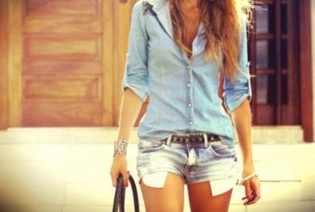 Camisa Jeans está em alta nos looks de verão