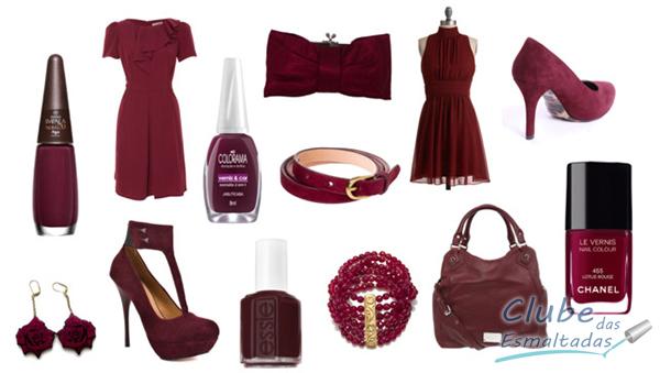 Burgundy é a cor do Inverno 2013